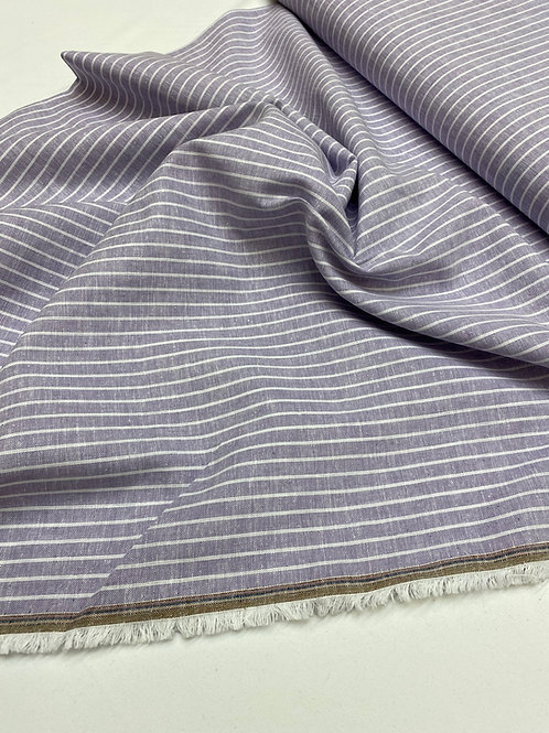 Lilac stripe linen/cotton mix
