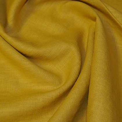 Mustard gold enzyme washed linen