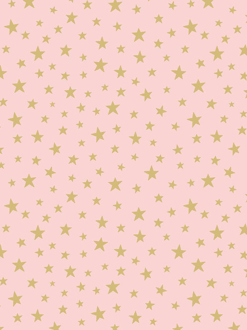 Gold star on pink