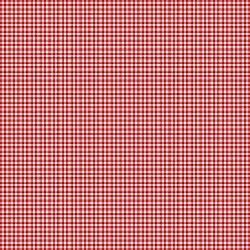 Gingham cranberry