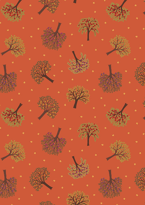 Trees on Burnt Orange
