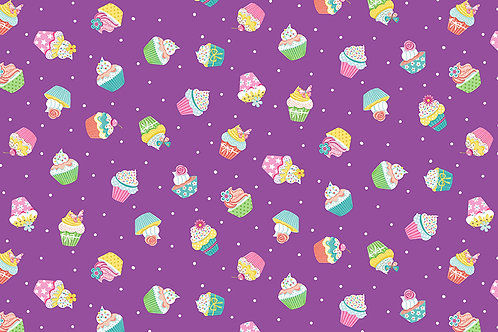 Cupcakes on Purple