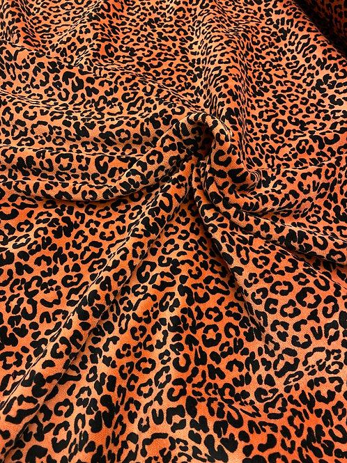 Organic rust leopard velour