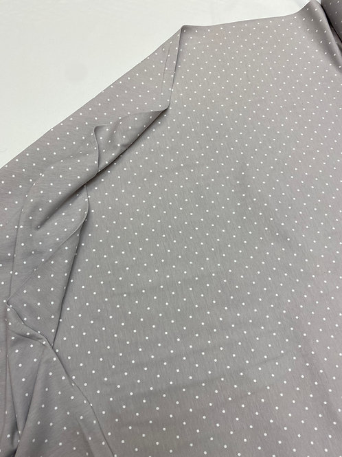 Light grey polka dot jersey