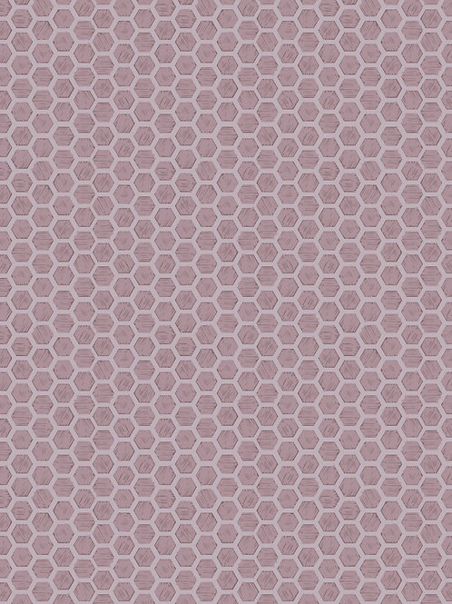 Honeycomb on mid lilac
