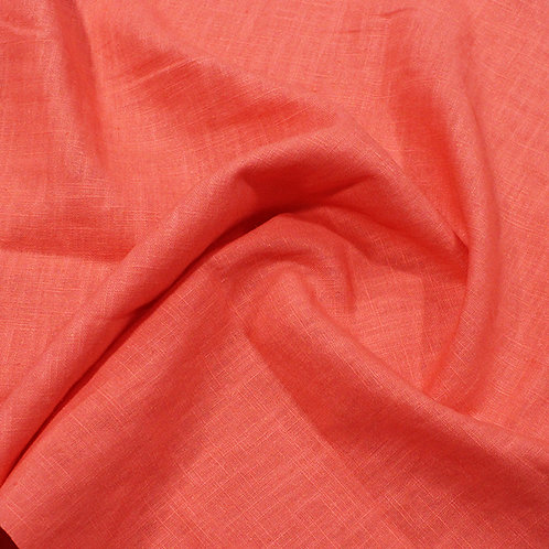 Coral enzyme washed linen