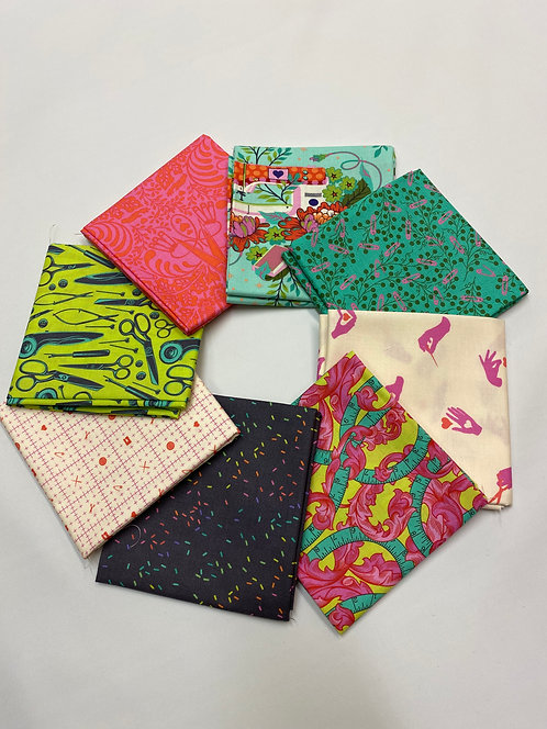 Fat Quarter Bundle - Morning - Tula Pink Homemade - 100% Premium quality quiltin