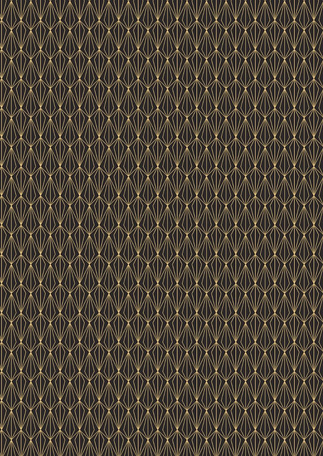 Gold geometric on black