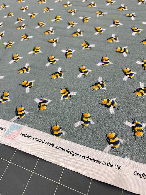 Grey Bee Poplin