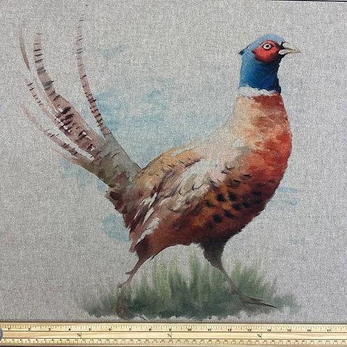 Pheasant cushion panel