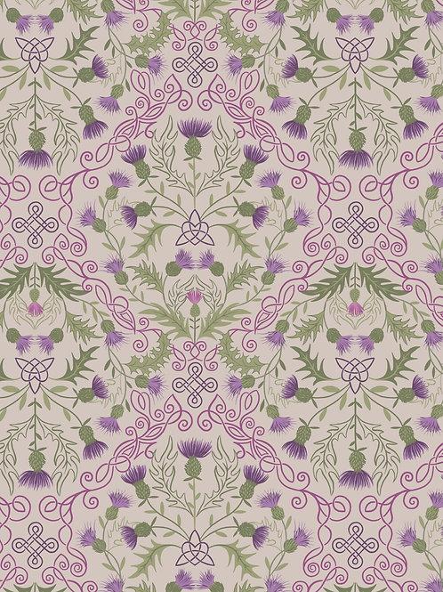 Purple thistle on natural