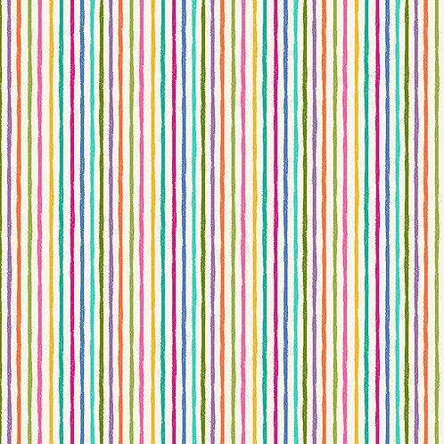 Chalky stripe on white