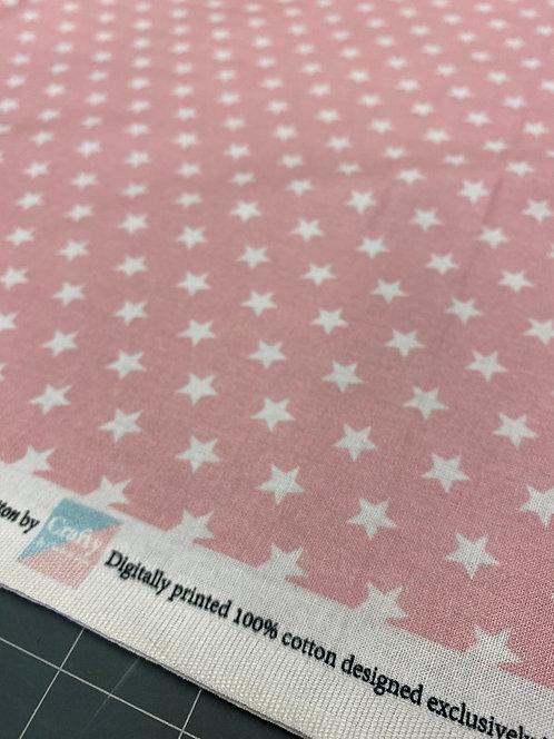 Light Pink Star Poplin