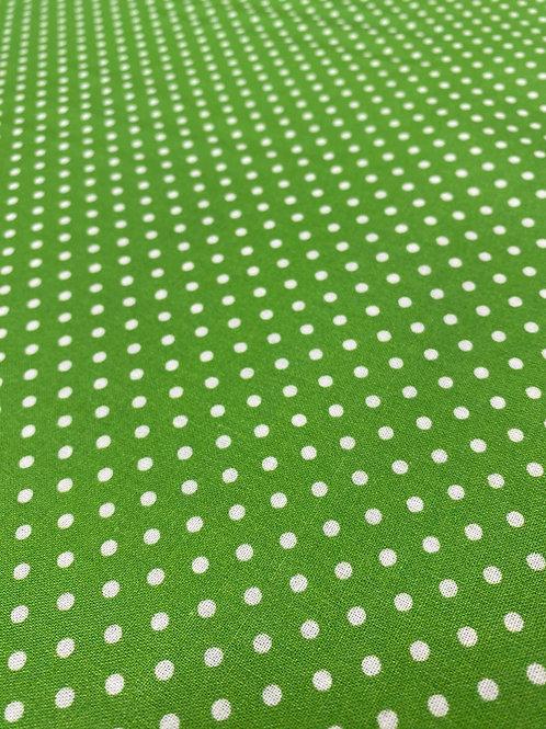 Grass Green Polka Dot Poplin