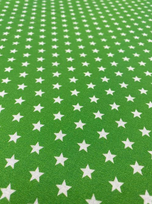 Grass Green Star Poplin