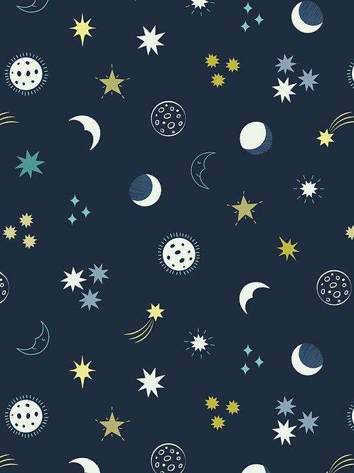 Night sky on dark blue