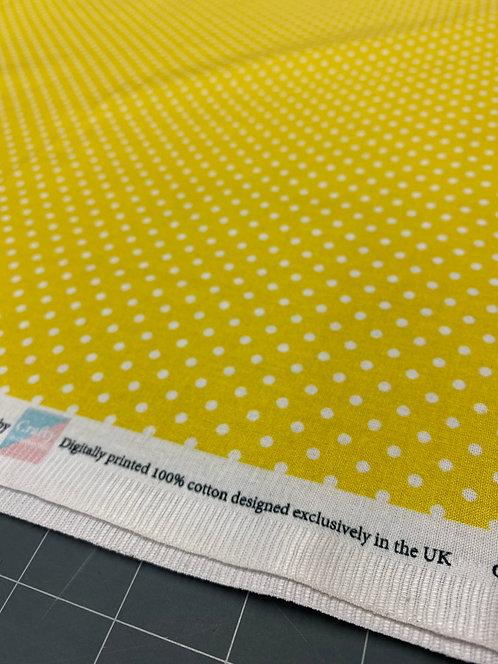 Yellow Polka Dot Poplin
