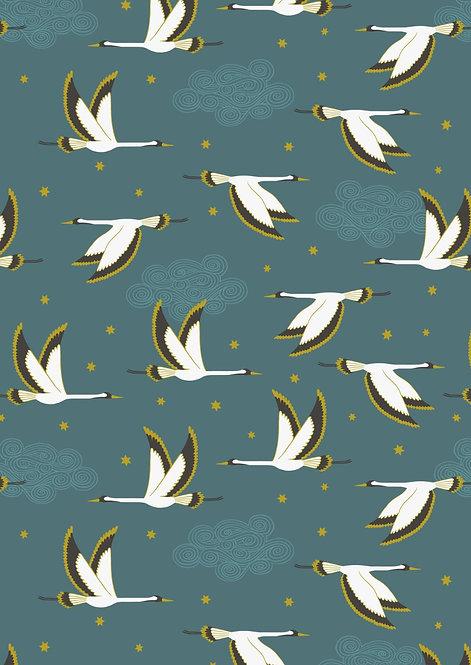 Flying Heron on Jade