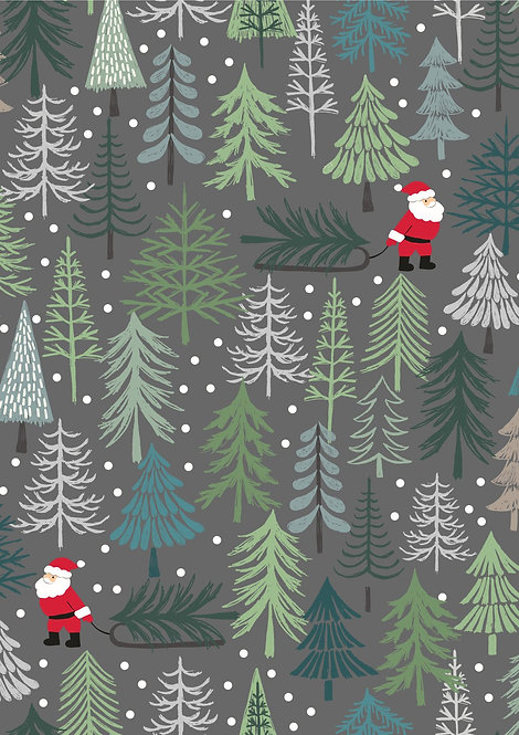Santa's Tree on dark grey