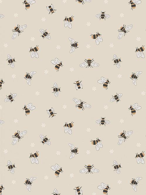 Bees on dark cream
