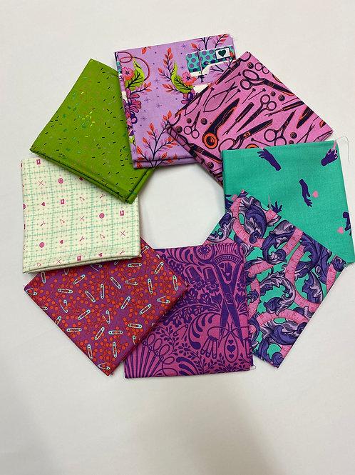 Fat Quarter Bundle - Night - Tula Pink Homemade - 100% Premium quality quilting