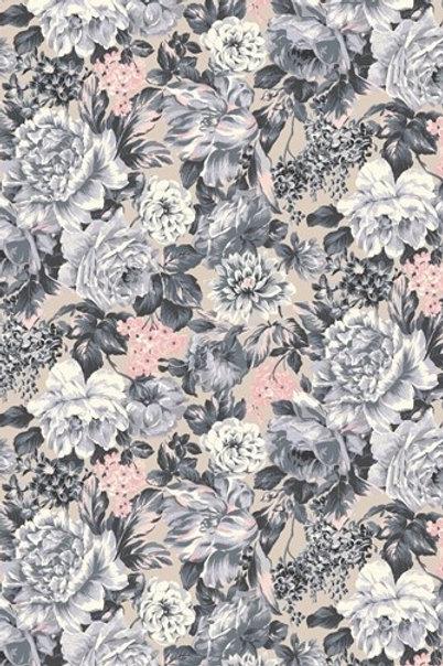 Wild Bloom Soft Grey