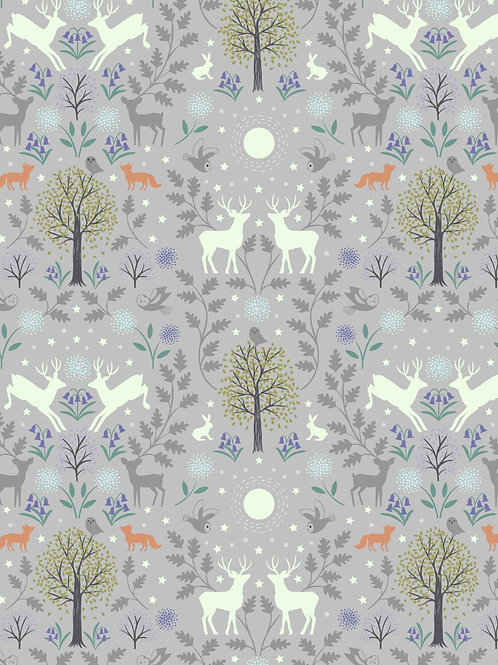 Mirrored Woodland on Grey