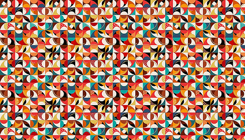 Mosaic on Cream