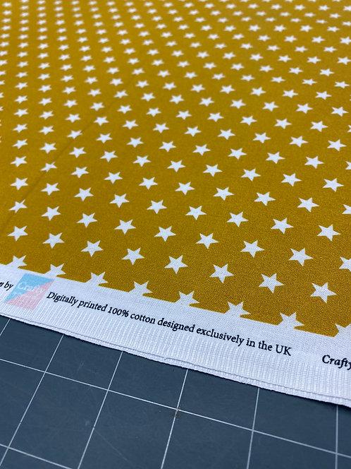 Mustard Star Poplin