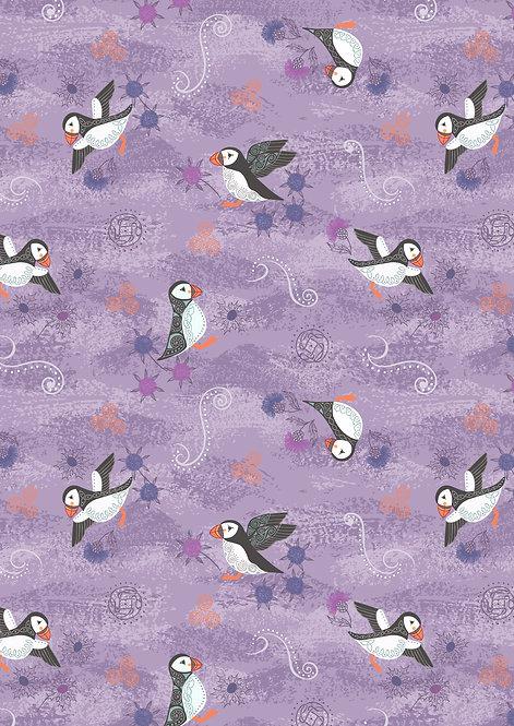 Purple puffins
