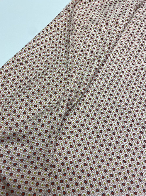 Organic Jersey - Retro dot dusky pink