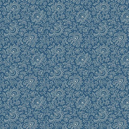 Paisley deep blue