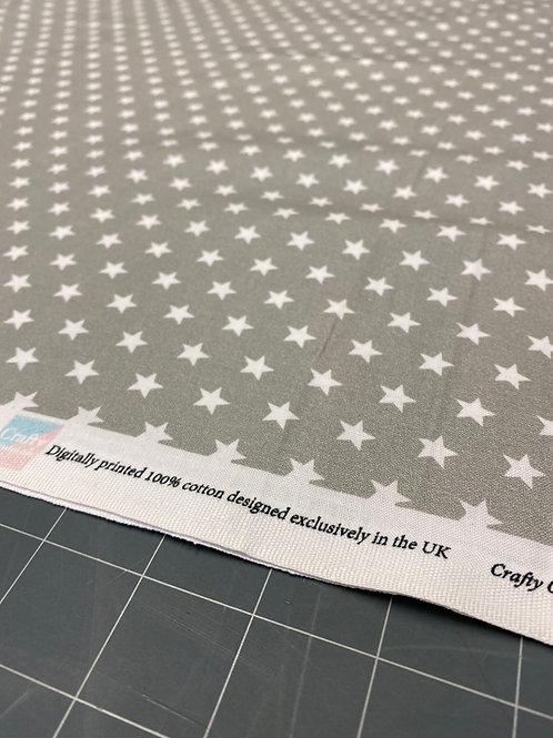 Light Grey Star Poplin