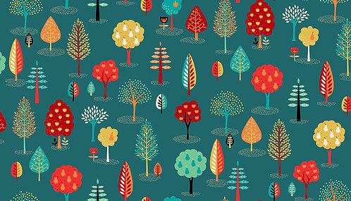 Trees on Teal