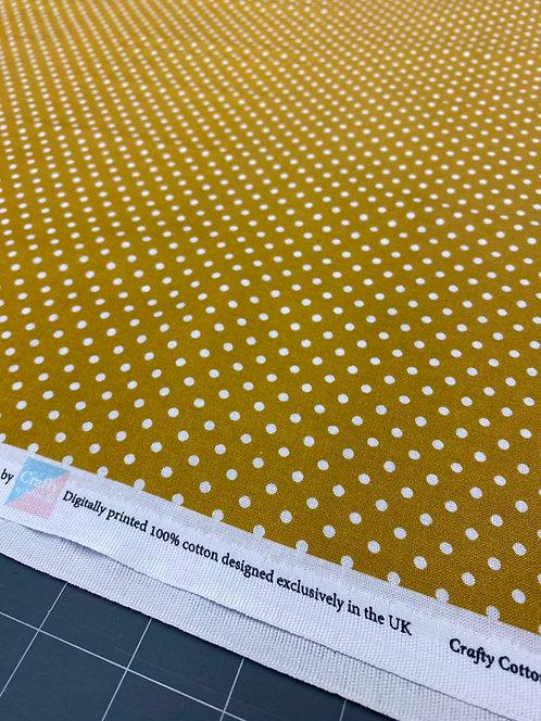 Mustard Polka Dot Poplin