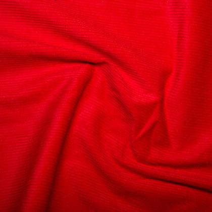 Red cotton corduroy