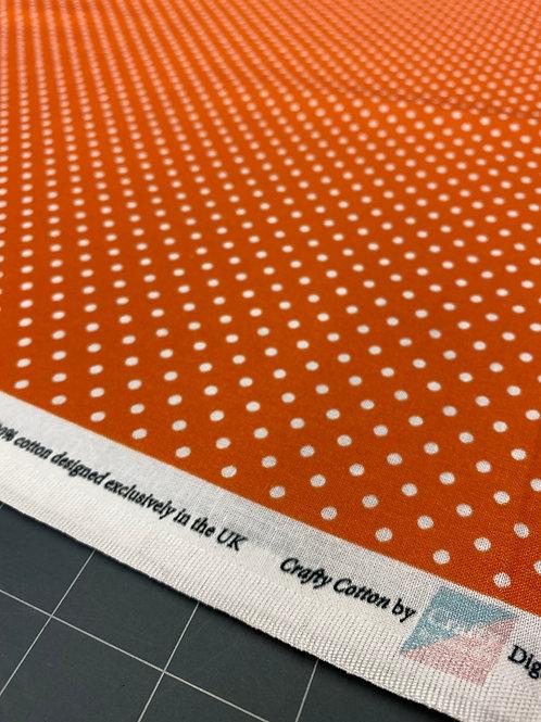 Orange Polka Dot Poplin