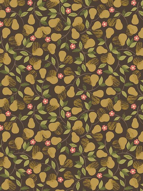 Pears on Dark brown