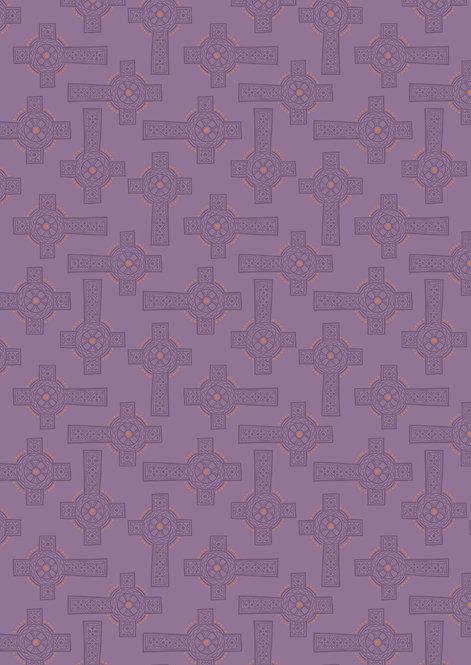 Purple Celtic cross