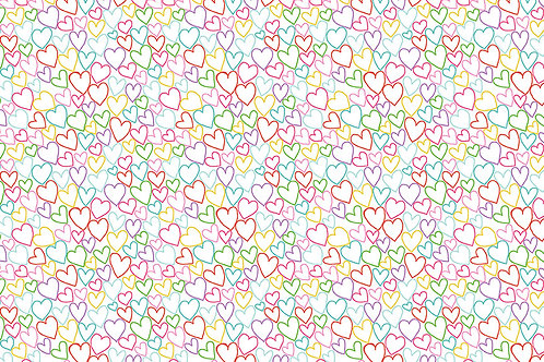 Hearts on White