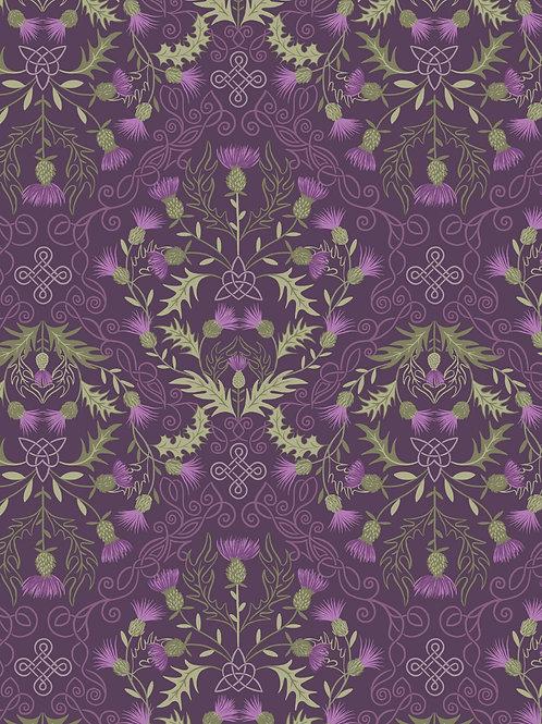 Thistles on dark purple