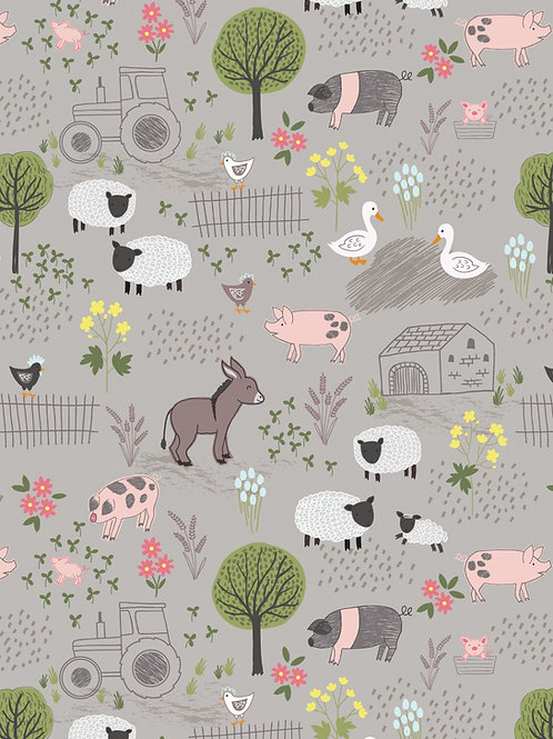 Farmyard on mid grey