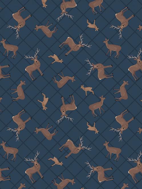 Dark blue Deer check