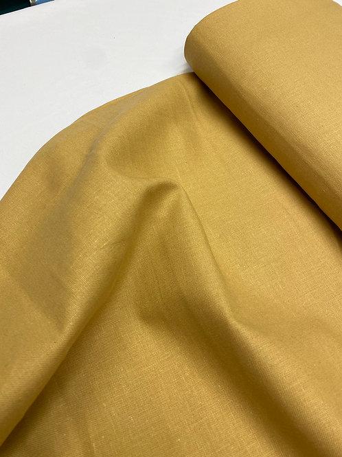 Mustard linen/cotton mix
