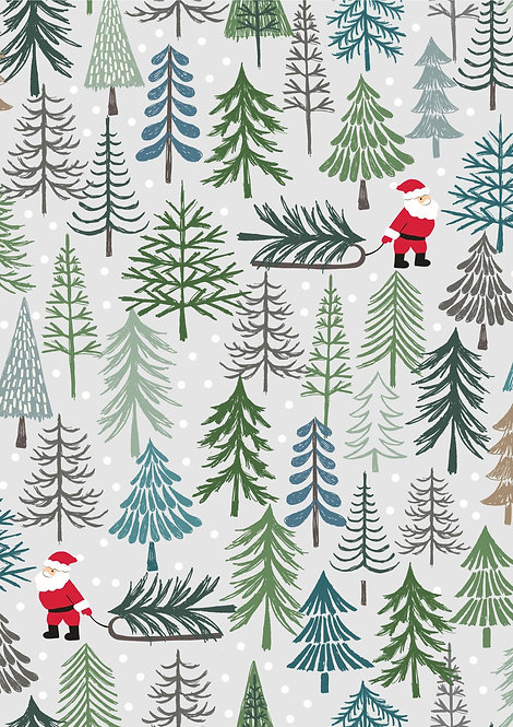 Santa's Tree on light grey