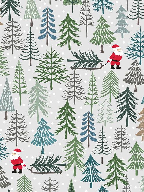 Santa's Tree on light grey