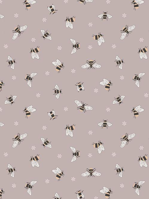 Bees on warm beige