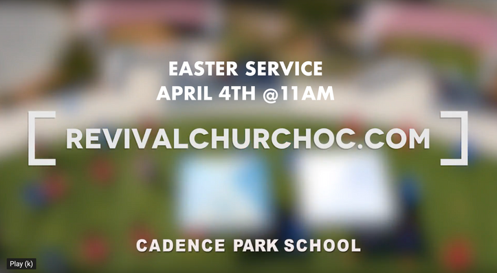 EASTER 2021 OUTDOOR SERVICE
