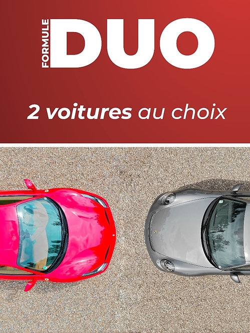 Formule Duo (2 voitures) • Stage conduite