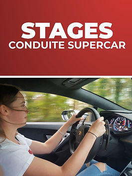 Stages de conduite supercar Tours Prestige Cars